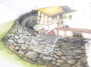 Image of the way Dinerth's ramparts may have looked in the Sixth Century