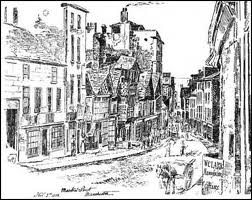 Market Street (Lane) as it may have looked in 1745