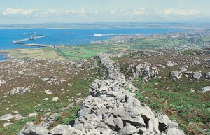 Section of rampart at Caer y Twr (courtesy of Tourist Board)