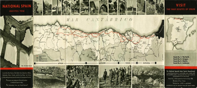 Spanish Civil War - The War Route of Northern Spain   David Ebsworth