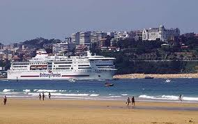Santander, with the Hotel Real and Pardo House, top right
