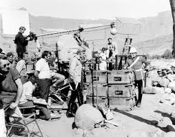 On the set of the 1964 film