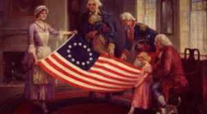 The first Stars and Stripes