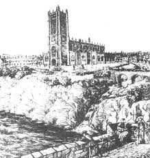 ...and as it appeared from the Old Salford Bridge in 1745