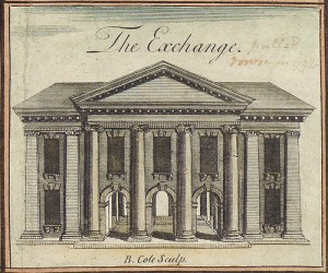 The first Commodities Exchange, 1745