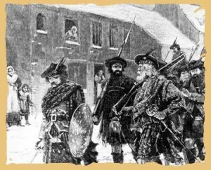 The Jacobite Army arrives in Manchester, 29th November 1745